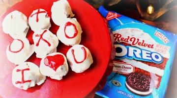 Say I Love You with Red Velvet Oreo Truffles