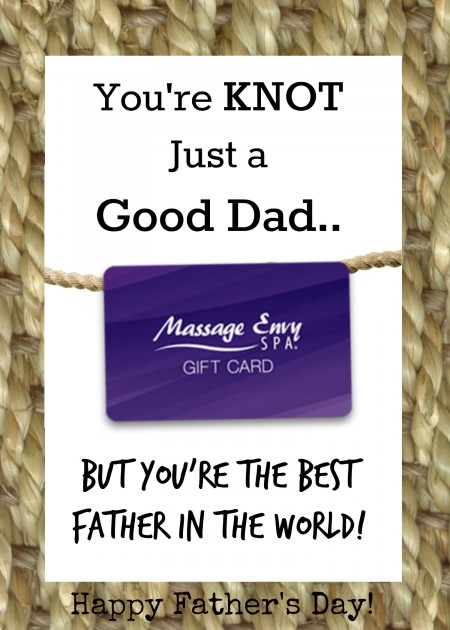 Fathers Day Massage Gift Card Holder