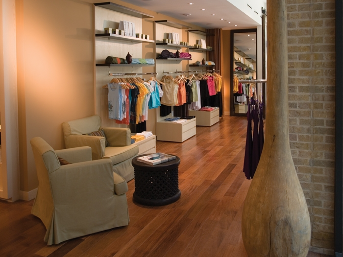 You can purchase apparel and other fitness goods in the spa.