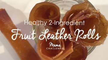 Healthy 2 Ingredient Fruit Leather Rolls