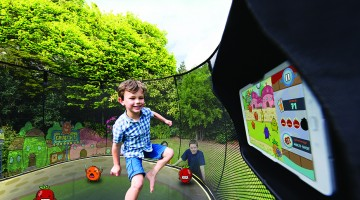 Go Outside and Play: New Outdoor Interactive Digital Gaming System Gets Families Active
