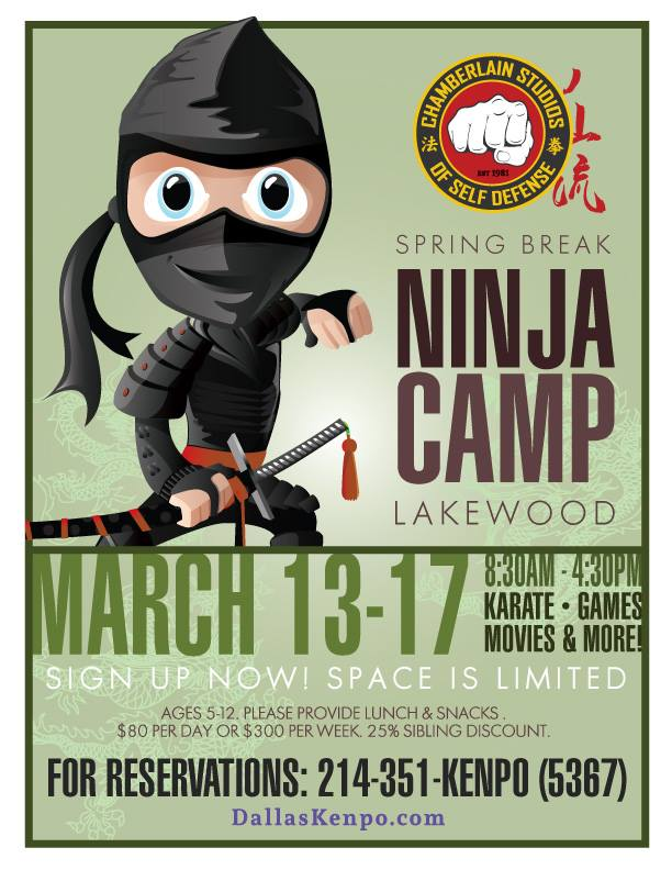 Spring Break Ninja Camp-Chamberlain Studios
