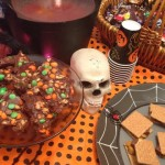 Halloween Celebration Play Date Fun: Boo Bark, Spooky S'mores & Poison Punch {Recipes}