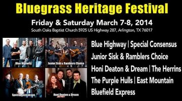 Jammin' at Bluegrass Heritage Festival, March 7 & 8 in Arlington {Giveaway}
