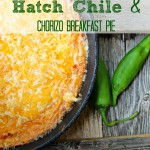 Hatch Chile and Chorizo Breakfast Pie