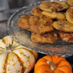 Caramel Stuffed Pumpkin Chocolate Chip Cookies