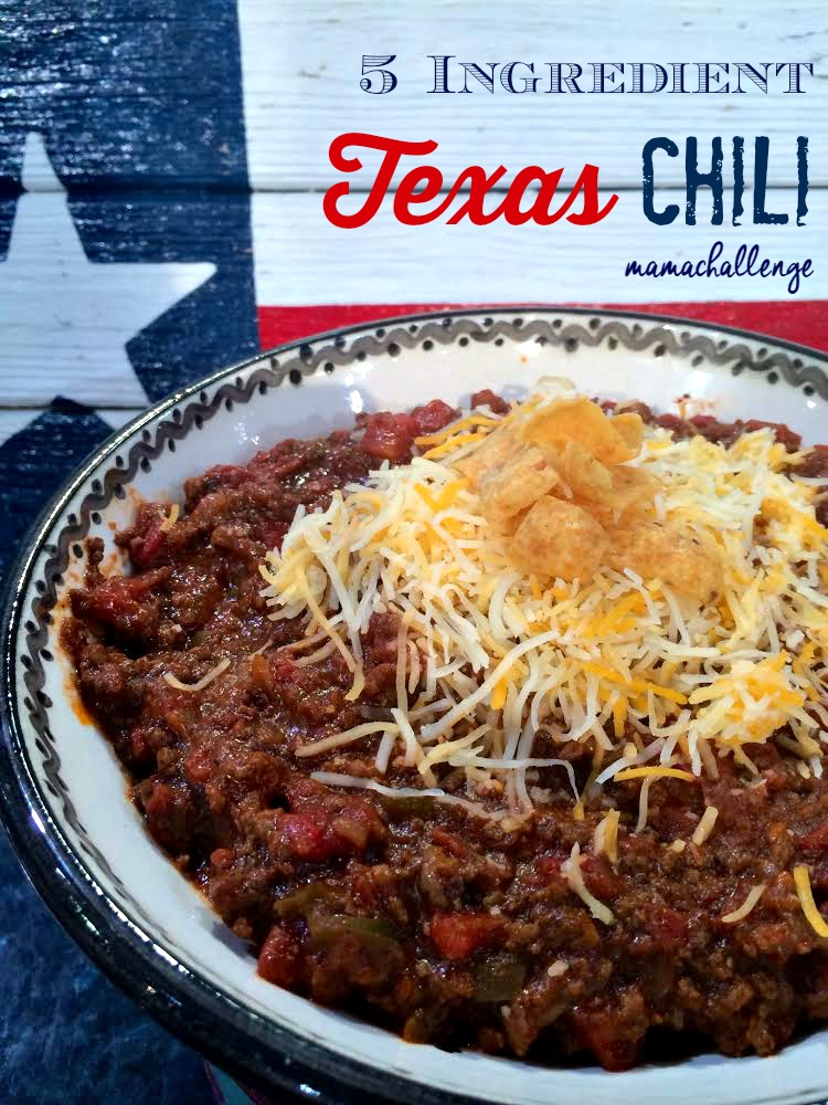 Easy 5 ingredient texas chili as seen on tv mamachallenge real easy 5 ingredient texas chili forumfinder Gallery