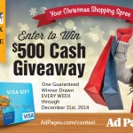 Be on Santa's List Each Monday with $500 Christmas Shopping Spree {Giveaway}
