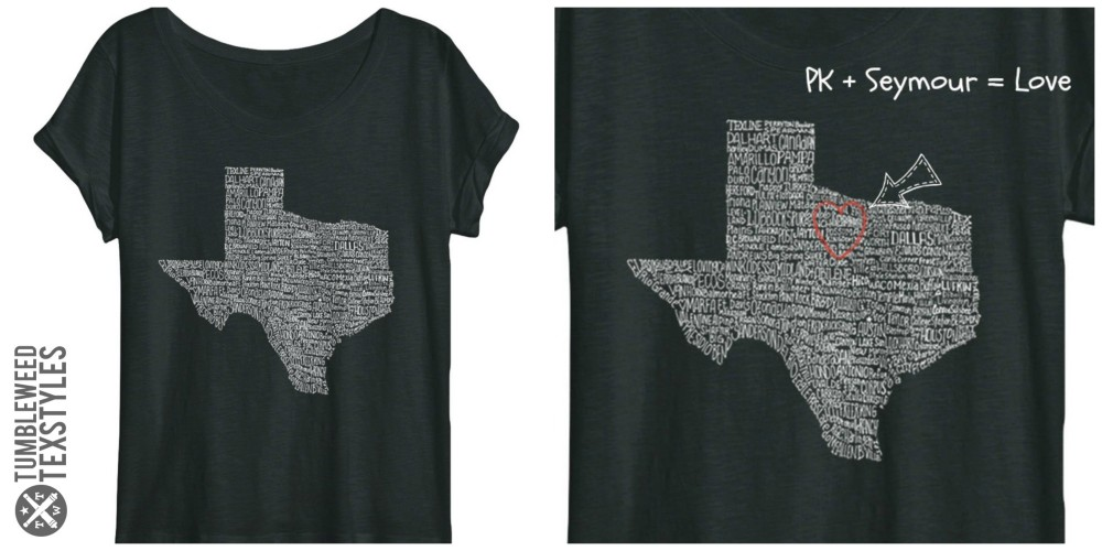 """aff8a646e Available for both men and a special """"off-the-shoulder"""" ladies version, the Texas  Towns shirt pays ..."""