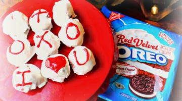 Say I Love You with Red Velvet Oreo Truffles