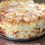 Quiche Lorraine with Hashbrown Crust