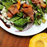 Summer Perfect Grilled Peach and Prosciutto Salad
