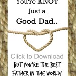 Knot Just a Good Dad You're the Best Gift Card {Free Printable}