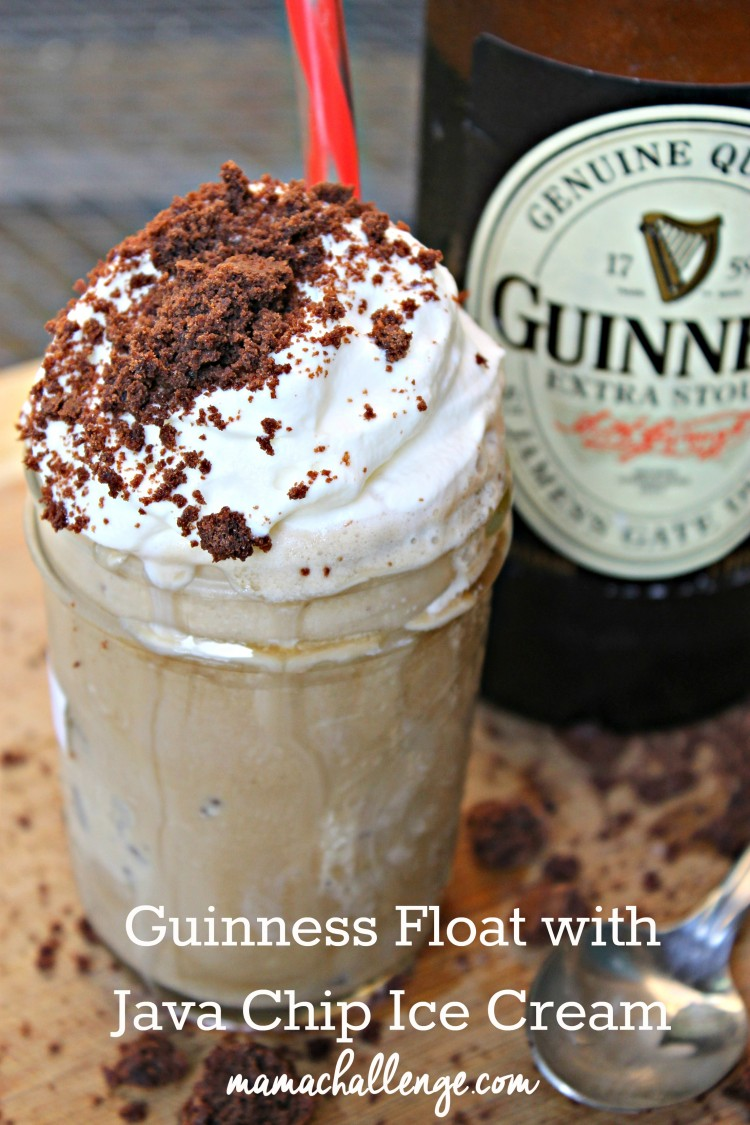 Guinness Float with Java Chip Ice Cream