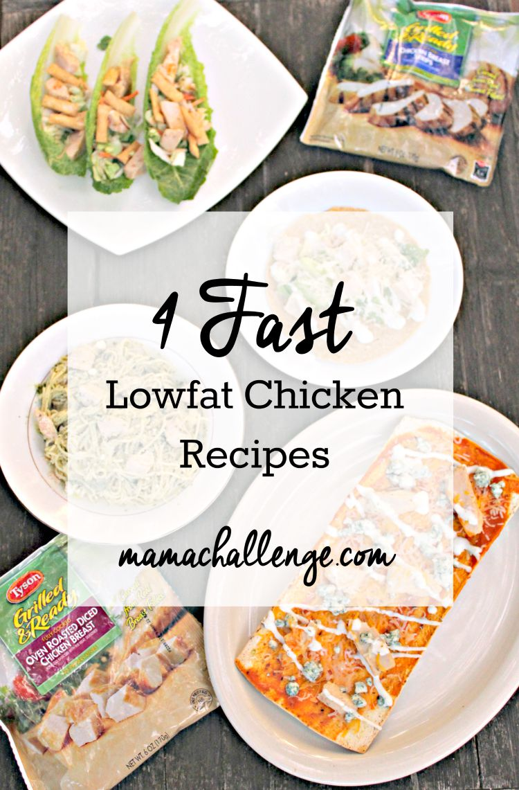 Four Fast Lowfat Chicken Recipes