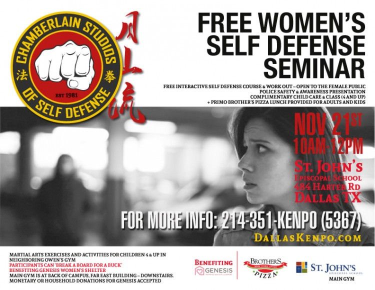 Free Self Defense Course-Chamberlain Studios-Nov 21st (1)