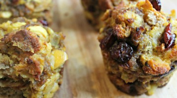 Joy to the Meal: Sausage and Cranberry Stuffing Cups