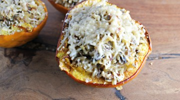 Healthy Thanksgiving: Stuffed Acorn Squash