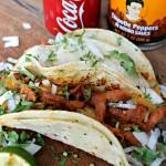 Chipotle Al Pastor Tacos with Coca-Cola / Tacos al Pastor con Chipotle y Coca Cola