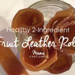 Healthy 2 Ingredient Fruit Leather Rolls