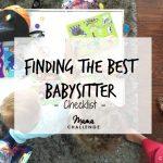 Finding the Best Babysitter Checklist