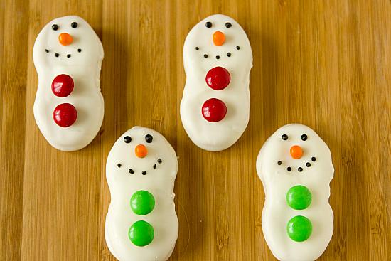 nutter butter snowmen