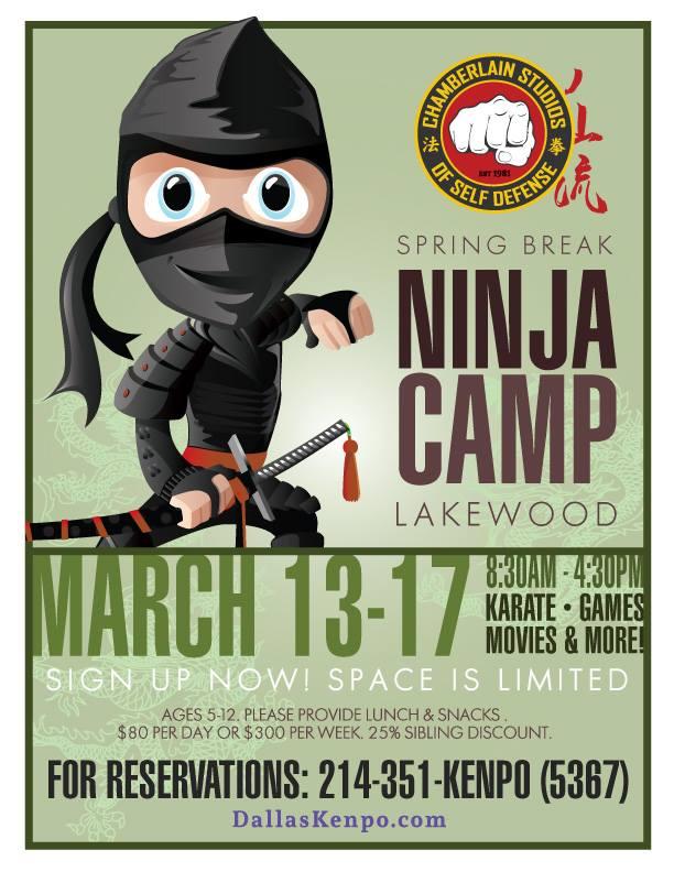 Spring Break Ninja Camp-Chamberlain Studios