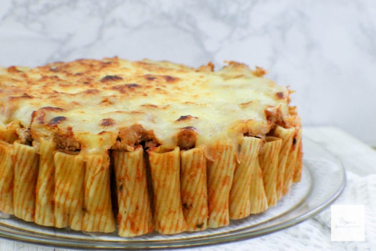 Cheesy Pasta Pie Mamachallenge Real Solutions For Real