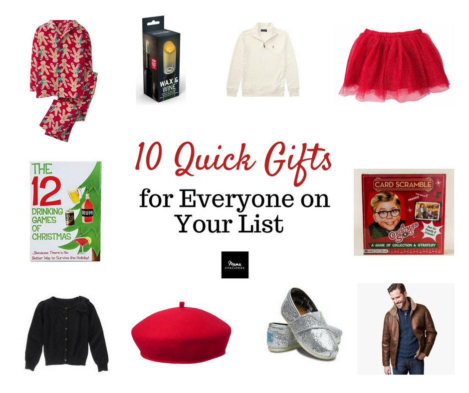 10 Quick Gifts for Everyone on Your List Allen