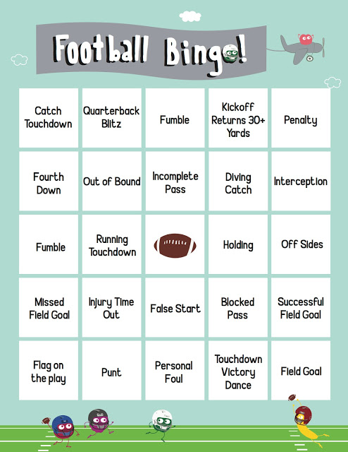 Gameday Football Bingo