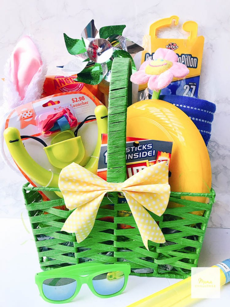 Hop into spring easter basket idea mamachallenge and best of all i was able to get it all at walmart which has some awesome things to put together a great easter basket and most everything was just a negle Images