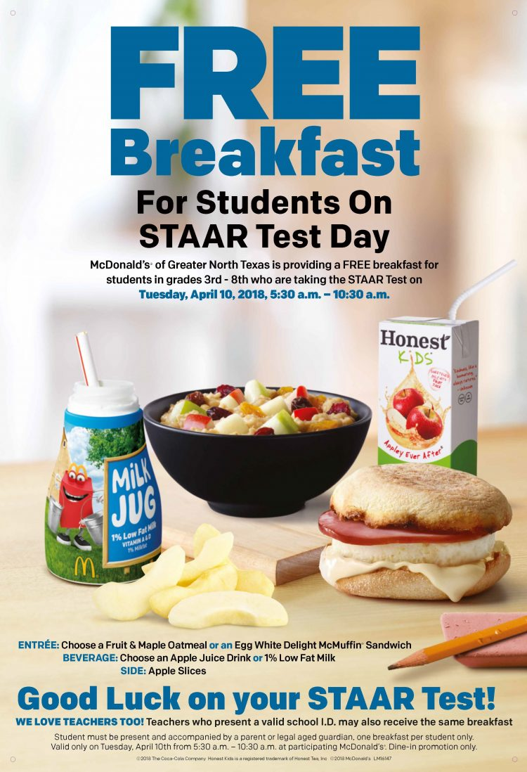 STAAR Free Breakfast Flyer