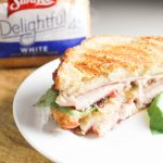 Turkey Cranberry Panini with Brie and Basil Mayo